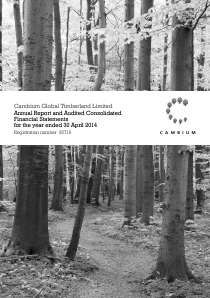 Cambium Global Timberland annual report 2014