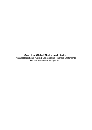Cambium Global Timberland annual report 2017
