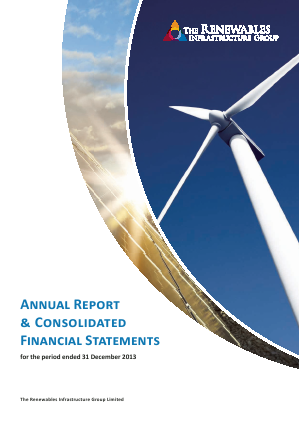 Renewables Infrastructure Group annual report 2013