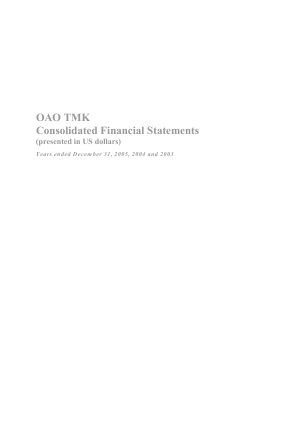 TMK annual report 2005
