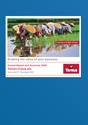 Tarsus Group Plc annual report 2009