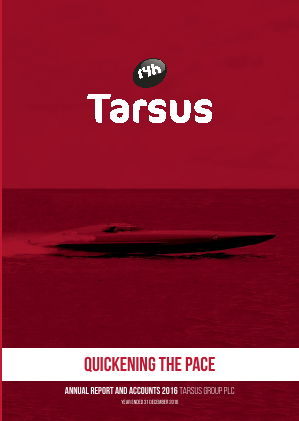 Tarsus Group Plc annual report 2016