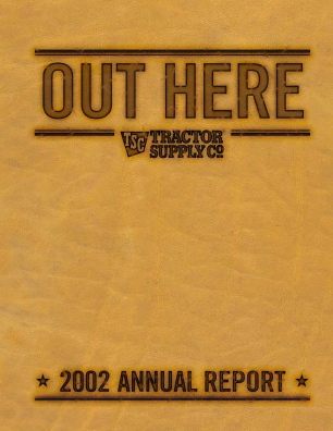 Tractor Supply Company annual report 2002