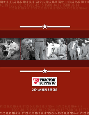 Tractor Supply Company annual report 2004