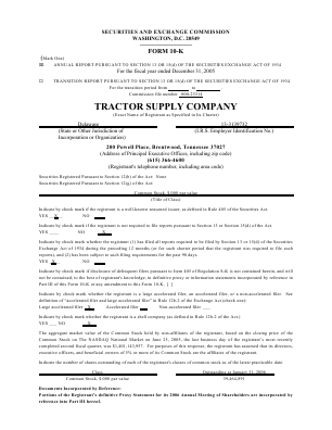 Tractor Supply Company annual report 2005