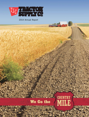 Tractor Supply Company annual report 2014