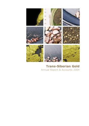 Trans-siberian Gold Plc annual report 2004