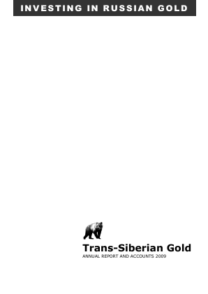 Trans-siberian Gold Plc annual report 2009