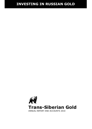 Trans-siberian Gold Plc annual report 2010