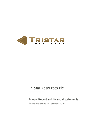 Tri-star Resources Plc annual report 2016