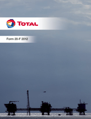 Total SA annual report 2012