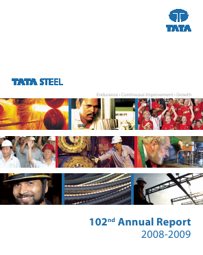 Tata Steel annual report 2009