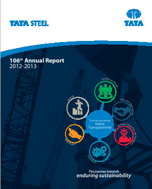 Tata Steel annual report 2013