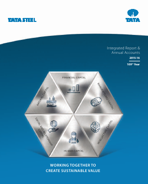 Tata Steel annual report 2016