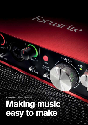 Focusrite Plc annual report 2016