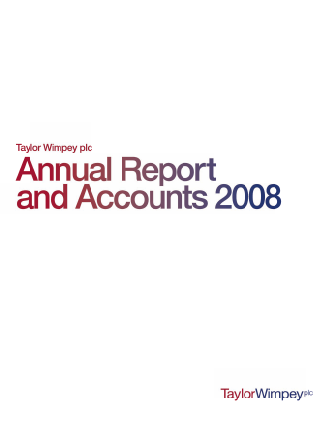 Taylor Wimpey Plc annual report 2008