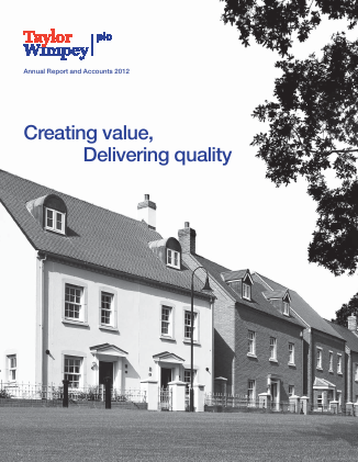 Taylor Wimpey Plc annual report 2012