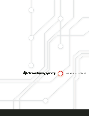 Texas Instruments Inc. annual report 2005