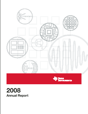 Texas Instruments Inc. annual report 2008