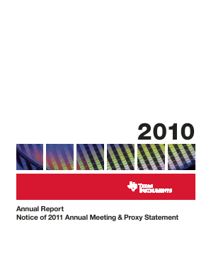 Texas Instruments Inc. annual report 2010