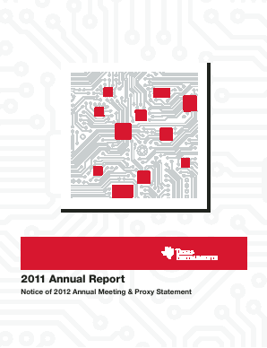 Texas Instruments Inc. annual report 2011