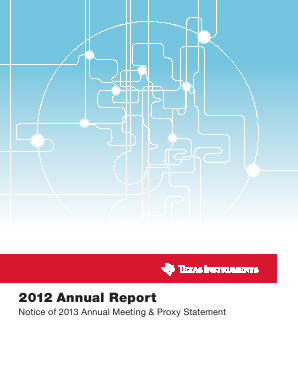 Texas Instruments Inc. annual report 2012