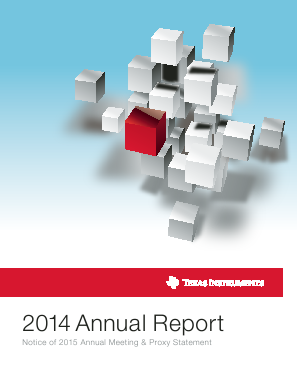 Texas Instruments Inc. annual report 2014