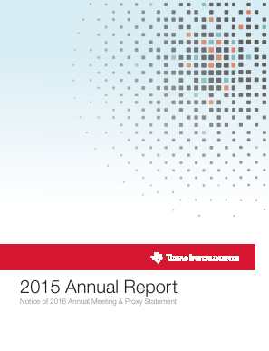 Texas Instruments Inc. annual report 2015