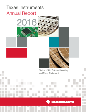 Texas Instruments Inc. annual report 2016