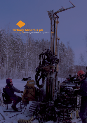 Tertiary Minerals Plc annual report 2009