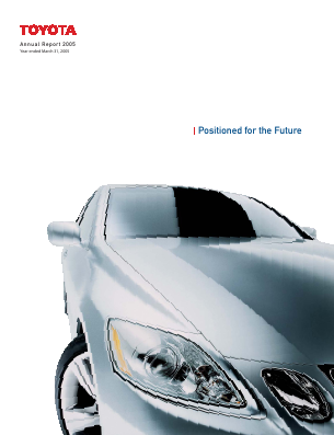 Toyota Motor Corp annual report 2005