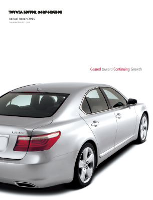 Toyota Motor Corp annual report 2006