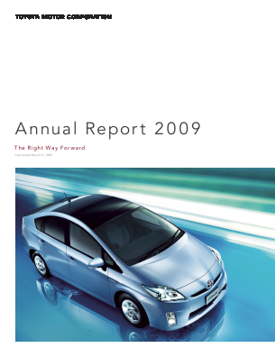 Toyota Motor annual report 2009
