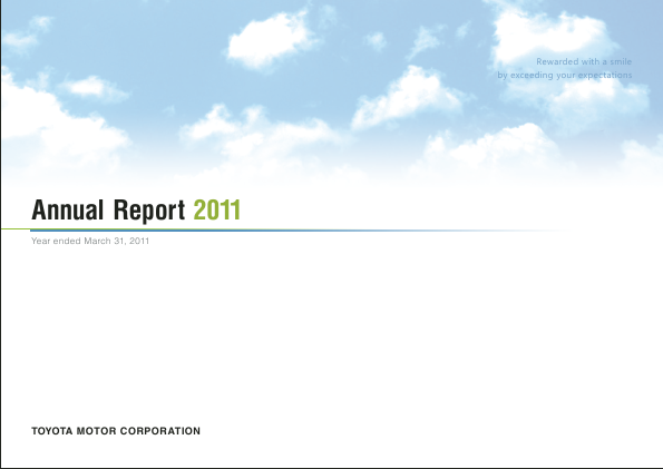 Toyota Motor annual report 2011