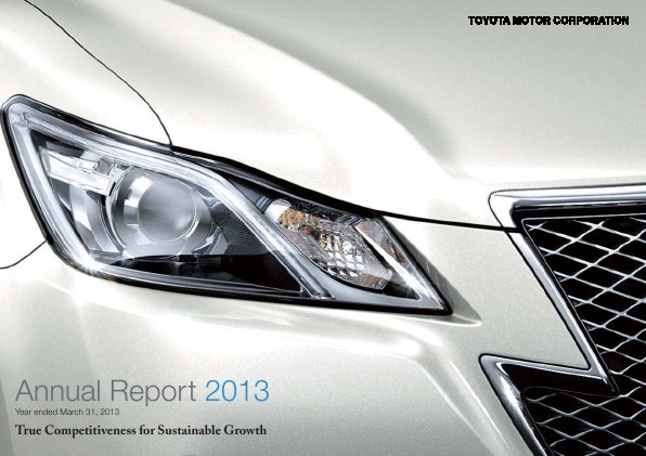 Toyota Motor annual report 2013