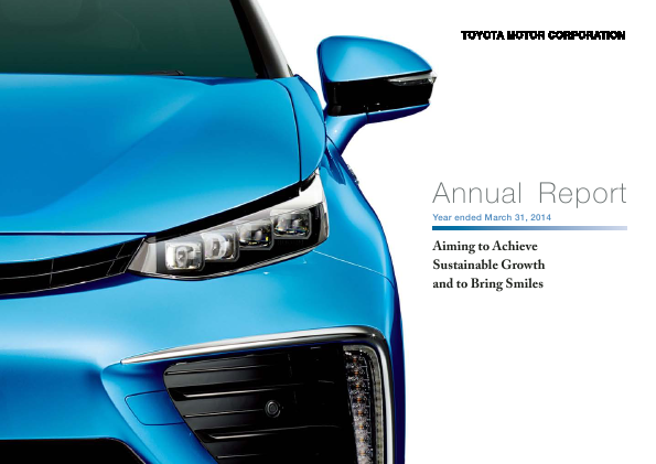 Toyota Motor Corp annual report 2014
