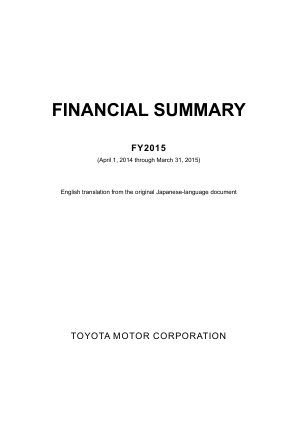 Toyota Motor Corp annual report 2015