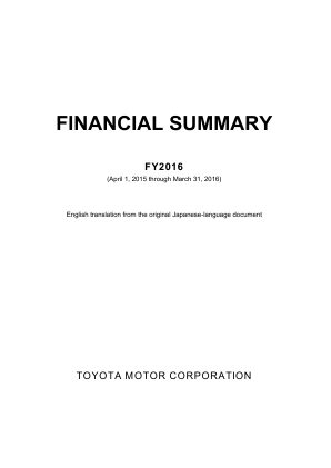Toyota Motor Corp annual report 2016
