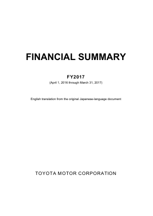Toyota Motor Corp annual report 2017