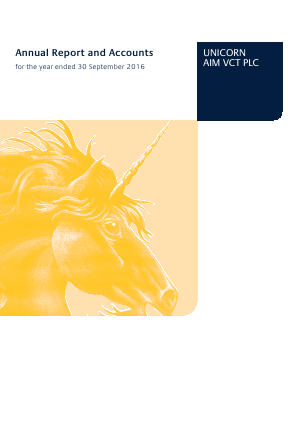 Unicorn Aim VCT Plc annual report 2016