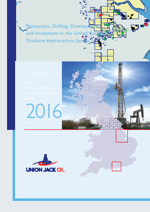 Union Jack Oil Plc annual report 2016