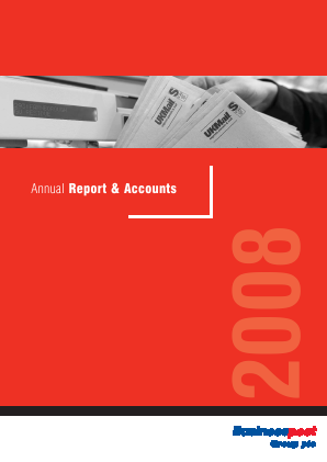 UK Mail Group Plc annual report 2008