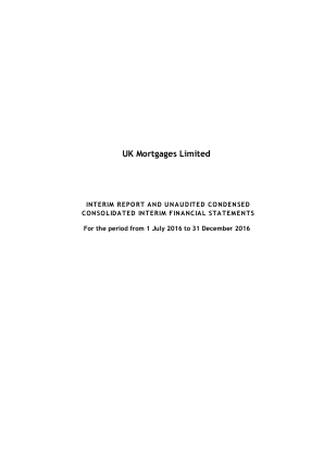UK Mortgages annual report 2016
