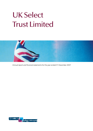 Threadneedle UK Select Trust annual report 2007