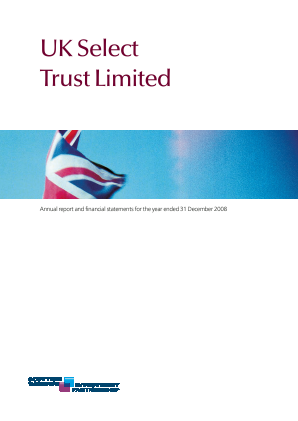 Threadneedle UK Select Trust annual report 2008