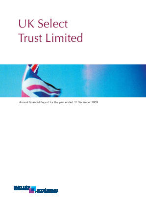 Threadneedle UK Select Trust annual report 2009