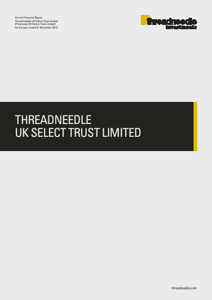 Threadneedle UK Select Trust annual report 2013
