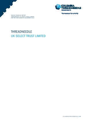 Threadneedle UK Select Trust annual report 2014