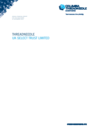 Threadneedle UK Select Trust Ltd annual report 2016