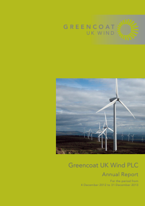 Greencoat UK Wind Plc annual report 2013